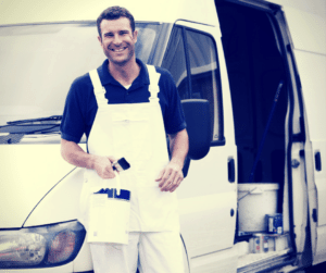 Painter with Van