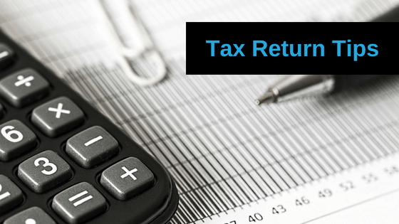 Tax Return Tips Blog Banner